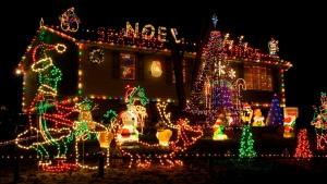 Christmas lights, Christmas decorating